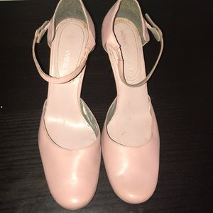 Rose pink Mary Janes leather